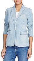 Lauren Ralph Lauren Single-Button Denim Blazer