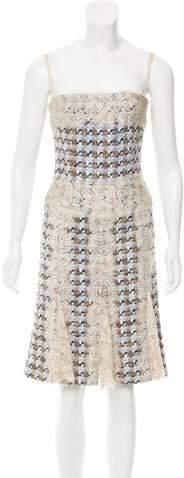 Dolce & Gabbana Lace-Trimmed Bouclé Dress