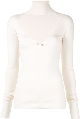 Dion Lee knit top with cut-out on the chest