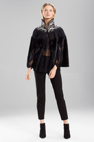 Josie Natori Brocade Fur Cape