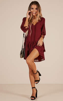 Showpo You Got A Dark Side dress in wine - 6 (XS) Dresses
