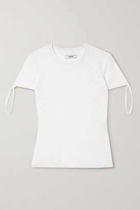 Miaou Tie Stretch-mesh T-shirt - White