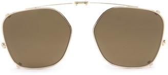 AHLEM Place Colette Clip Peony Gold Sunglasses