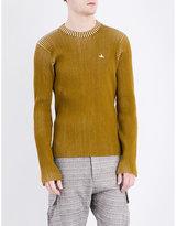 Vivienne Westwood Crewneck Ribbed Knitted Jumper