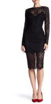 Veronica Beard Long Sleeve Lace Dress