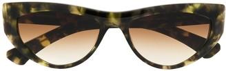 Christian Roth Tortoiseshell Cat-Eye Frame Sunglasses