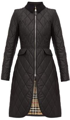 Burberry Ongar Vintage Check Lined Quilted Coat - Womens - Black