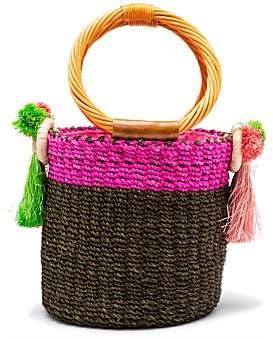 Serpui Marie Lauren Cane Basket Bag