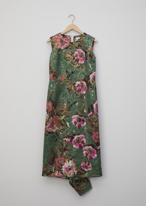 Comme des Garcons Lame Jacquard Flower Pattern Dress