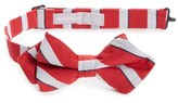 Nordstrom Boy's Stripe Cotton & Silk Pointed Bow Tie
