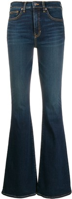 Veronica Beard Flared High-Rise Jeans