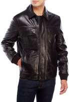 Andrew Marc Four-Pocket Leather Jacket
