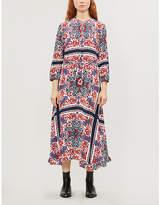 Claudie Pierlot Graphic-print crepe midi dress