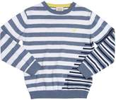 Armani Junior Striped Cotton Knit Sweater