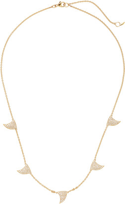 ONDYN Great Waves 14K Gold and Diamond Necklace