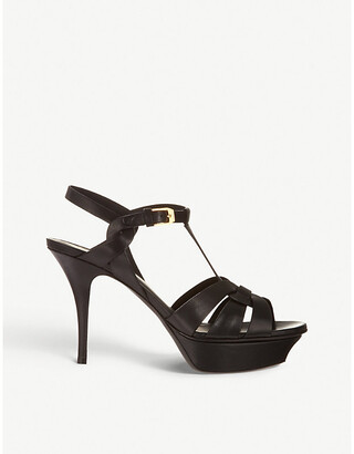 Saint Laurent Tribute 75 leather heeled sandals