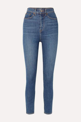 RE/DONE Originals Ultra High-rise Ankle Crop Skinny Jeans - Mid denim