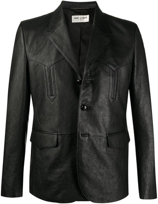 Saint Laurent Lambskin Blazer