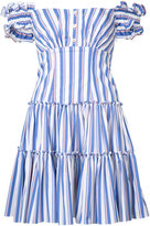 Caroline Constas Maria striped dress - women - Cotton/Nylon/Spandex/Elastane - S