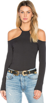 LnA Cut Out Rib Long Sleeve Top