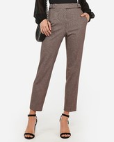 Express High Waisted Plaid Buckle Ankle Pant