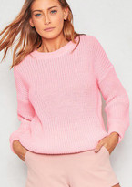 Missyempire Mysha Pastel Pink Fishermans Knit Baggy Jumper