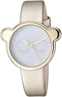 Emporio Armani Women's Manga Bear Stainless Steel Analog-Quartz Watch with Leather Calfskin Strap