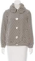 Tibi Herringbone Wool Coat