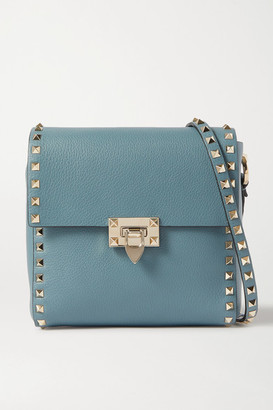 Valentino Garavani Rockstud Small Leather Shoulder Bag - Teal