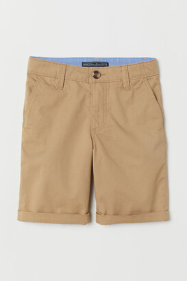 H&M Generous Fit Chino Shorts - Beige