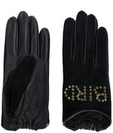 Agnelle Night Bird studded gloves