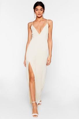 Nasty Gal Womens Look At You Satin Maxi Dress - Ivory