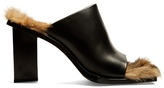 Marques Almeida MARQUES'ALMEIDA Fur-lined leather mules
