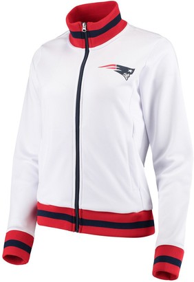 G Iii Women's G-III 4Her by Carl Banks White New England Patriots Field Goal Track Jacket