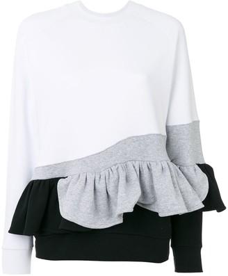 Ioana Ciolacu sweatshirt with ruffle detail