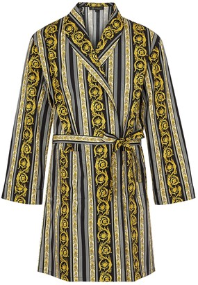 Versace Baroque-print cotton robe