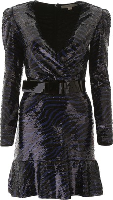 Michael Kors Tiger Sequins Dress