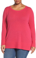 Sejour Crewneck Wool and Cashmere Sweater (Plus Size)