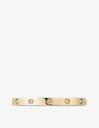 Cartier LOVE 18ct yellow-gold and 10 diamond bracelet