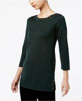 Cable & Gauge Grommet Sweater