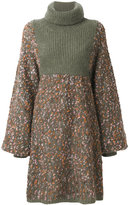 Chloé cocoon sweater dress - women - Silk/Polyamide/Mohair/Wool - S