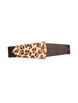 The Limited Leopard Print Asymmetrical Belt