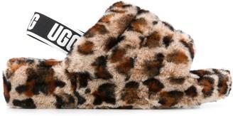 UGG Fluff Yeah leopard-print slides