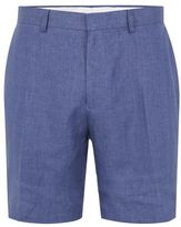 Topman Blue Linen Dress Shorts