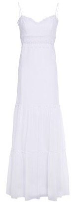 Charo Ruiz Ibiza Crocheted Lace-trimmed Cotton-blend Voile Maxi Dress