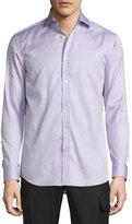 Ralph Lauren Mini-Houndstooth Sport Shirt, Purple