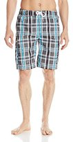 Kanu Surf Men's Paradigm Plaid Swim Trunks