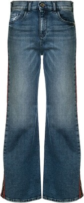 Emporio Armani Mid Rise Flared Jeans