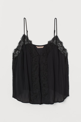 H&M H&M+ Lace-trimmed strappy top