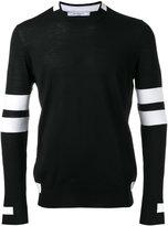 Givenchy paneled long sleeve jumper - men - Wool - M